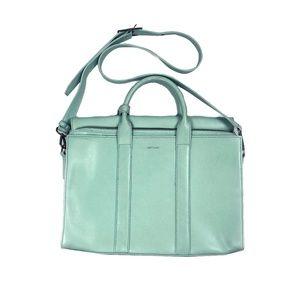 Matt & Nat NEW Briefcase Green With Strap 100% Veg
